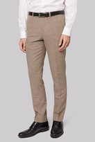 Moss Bros Skinny Fit Neutral Donegal Trousers