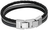 "Fossil Men's Vintage Casual Triple Strap Bracelet, 8.5"""