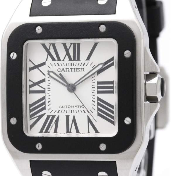 Cartier Santos 100 W20121U2 Automatic Stainless Steel 38mm Mens Sports Watch