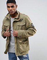 Tokyo Laundry Military Shirt Jacket With Badges