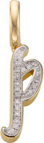 Monica Vinader 18ct yellow-gold vermeil and diamond alphabet pendant P