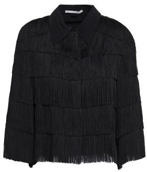 Stella McCartney Fringed Silk Crepe De Chine Shirt