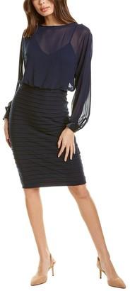 Adrianna Papell Chiffon Blouson Dress