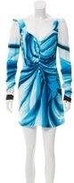Roberto Cavalli Printed Mini Cocktail Dress