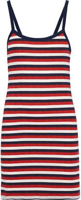 Joie Christine B Striped Ribbed Jersey Mini Dress