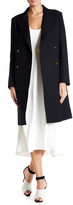 Helmut Lang Double Breasted Notch Collar Wool Coat