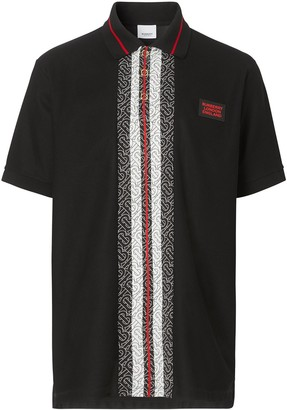 Burberry Monogram Stripe Polo Shirt