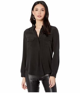Splendid Women's Long Sleeve Silk Blouse