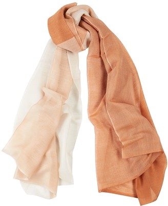 Denis Colomb Silky Cloud Two-tone Cashmere-blend Scarf