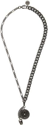 Alexander McQueen Silver Medallion Necklace