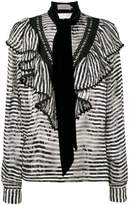 Preen by Thornton Bregazzi Phillipa scarf detail striped blouse