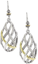Lagos 18K Gold & Sterling Silver Unlaced Pave Diamond Accent Earrings - 0.23 ctw