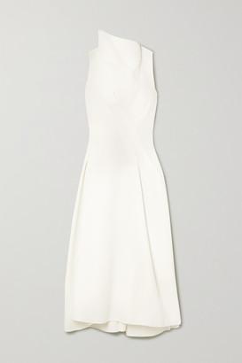 Maticevski Assured Gathered Cady Midi Dress - White