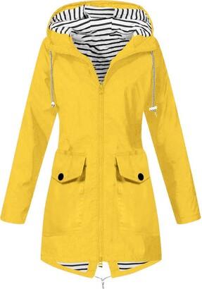 Reooly Women's Hooded Windproof Outdoor Raincoat Jacket