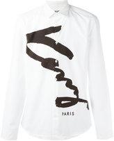 Kenzo Signature shirt - men - Cotton - 39