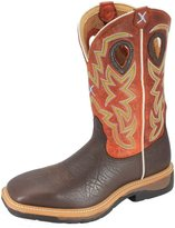 Twisted X Western Work Boots Mens Steel Toe Cognac MLCS011