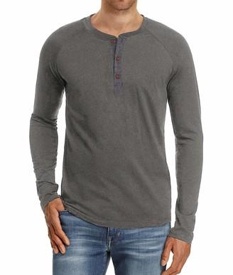 PeaceCake Mens Casual Long Sleeve Henley T-Shirts Basic Soft Cotton Shirts