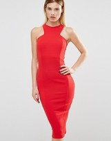 Club L Racer Front Midi Dress In Crepe