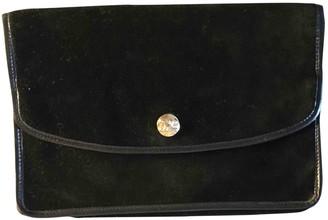 Celine Black Velvet Clutch bags