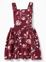 Old Navy Floral Twill Apron Dress for Baby