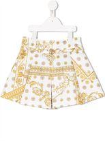 Young Versace 'Cornici' print skirt