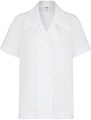 Fendi Maxi Pointed Collar Shirt