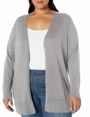 Amazon Essentials Plus Size Lightweight Open-front Cardigan Sweater Camel Heather 4X