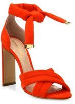 Nicholas Kirkwood Ziggy Suede Crisscross Ankle-Tie Sandals