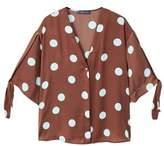 Violeta BY MANGO Polka-dot flowy blouse