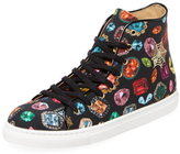 Charlotte Olympia Bejeweled Canvas Hi-Top