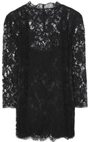 Dolce & Gabbana Cotton-blend lace blouse