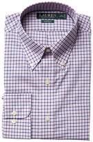 Lauren Ralph Lauren Classic Fit Poplin Plaid Button Down Collar Dress Shirt Men's Long Sleeve Button Up