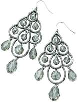 Fiorelli Costume Collection Ladies' E4000 Imit Rhod Glass Bead Chandelier Earrings