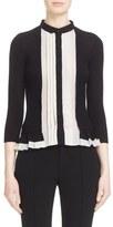 Yigal Azrouel Women's Pleated Peplum Silk & Cashmere Cardigan