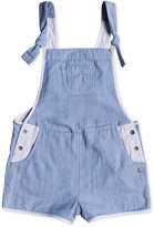 Roxy Glitter Mane Cotton Overall Shorts, Big Girls (7-16)