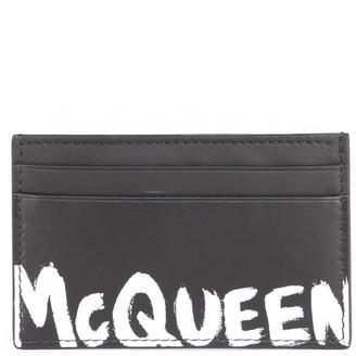 Alexander McQueen Graffiti Print Cardholder