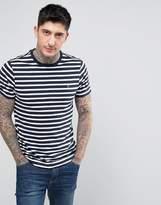 Farah Lennox Breton Stripe T-Shirt Slim Fit in Navy/White