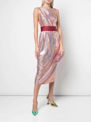 Sequin Waistband Dress