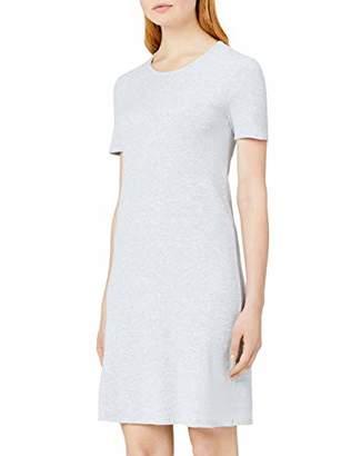 MERAKI Women's Slim Fit Rib Summer T-Shirt Dress,8 (Size: )