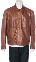 Zegna Sport Leather Trucker Jacket
