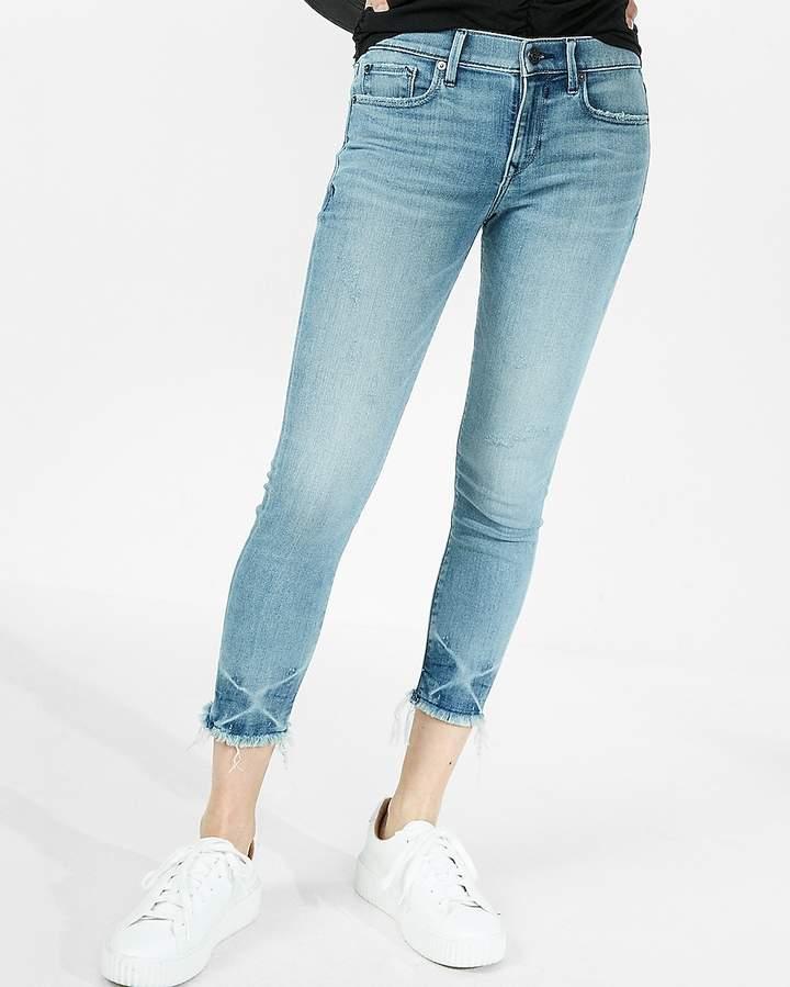 Express Petite Mid Rise Cropped Stretch Jean Leggings