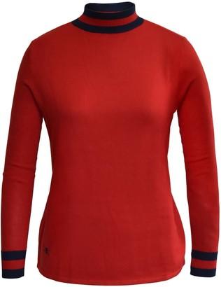 Lady Kate Stripe Collar Jumper - Red & Navy
