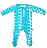 Kickee Pants Infant Footie - Confetti Piranha