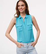 LOFT Mixed Media Sleeveless Top
