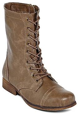 JCPenney Olsenboye Tallin Flat Lace-Up Boots