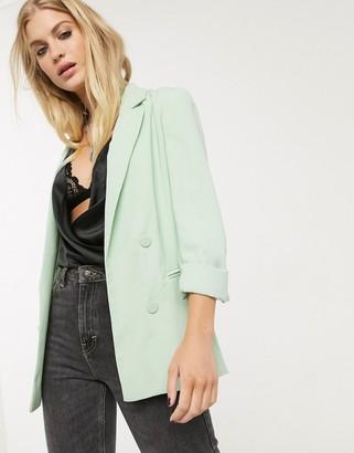 Bershka oversized blazer in mint