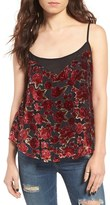 Band of Gypsies Women's Floral Burnout Velvet Camisole