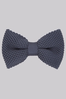 Moss Bros Petrol Knitted Bow Tie