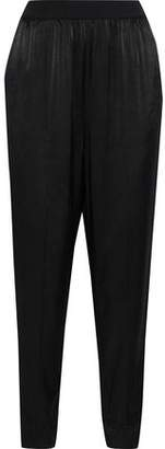 By Malene Birger Ietos Cropped Gathered Satin Tapered Pants