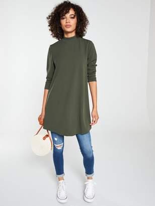 Very Long Sleeve Tunic - Khaki